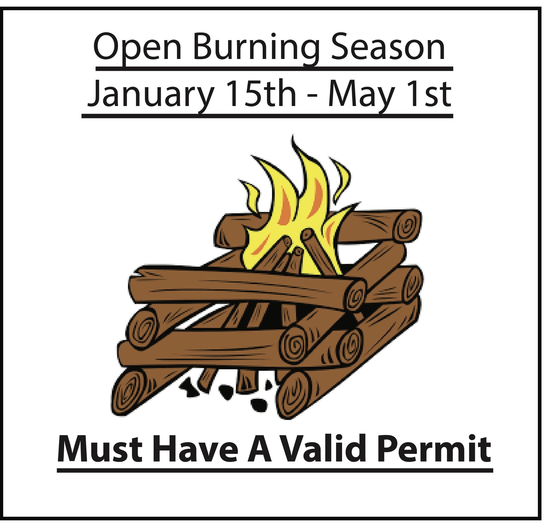 Franklin Fire: Open Burning Season - permits available