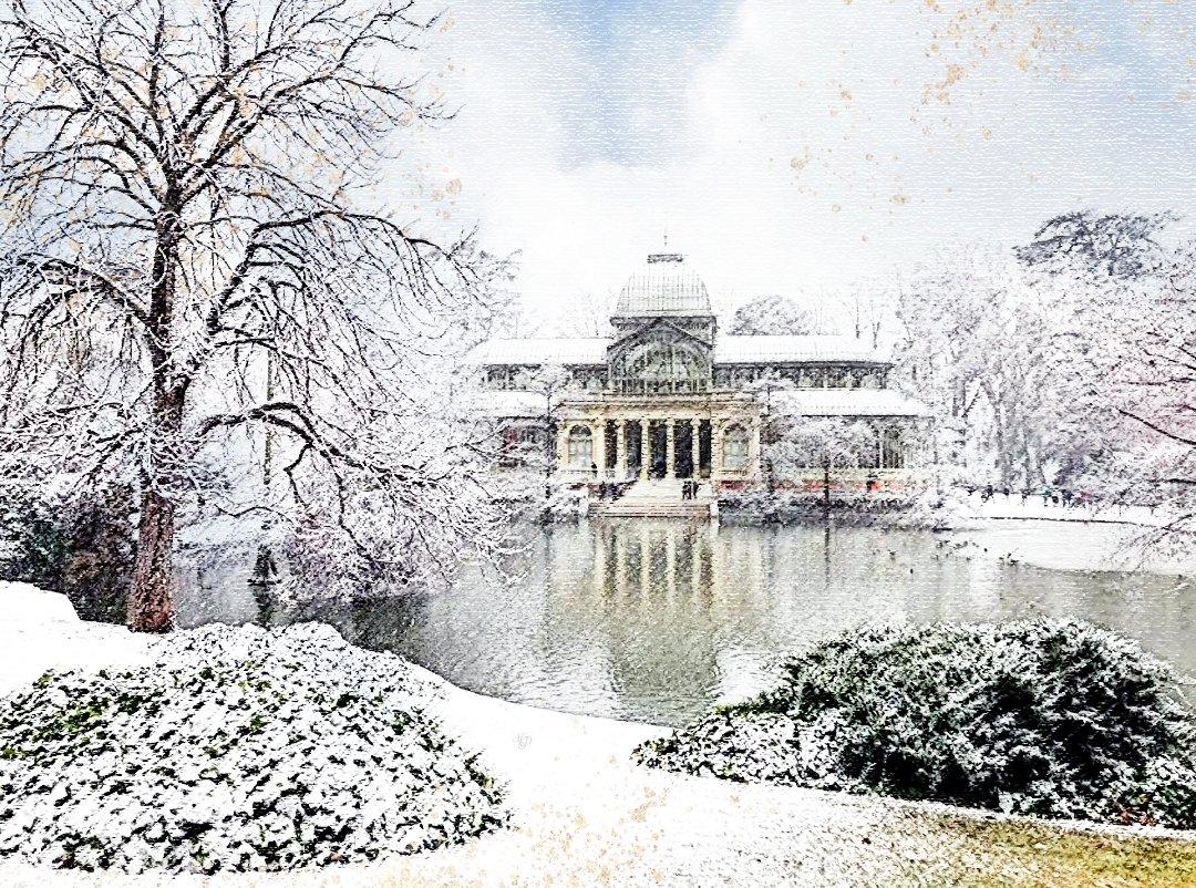 Jugando con la nieve...retoque fotográfico #Retiro  🖌️📸   #Filomenamadrid #filomena #BorrascaFilomena #Madrid  #rastro #nieve #borrasca #snow  #españa #fotografia #photography #foto #photo #fotografiaurbana #streetphotography #fotodeviajes