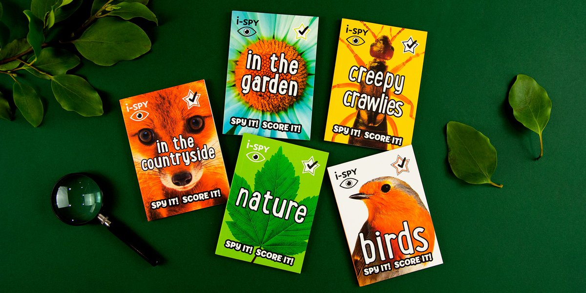 Beat the boredom and take time out from screens with these pocket-sized books!   Shop i-SPY books now:   #ispy #schoolclosuresuk #getoutside