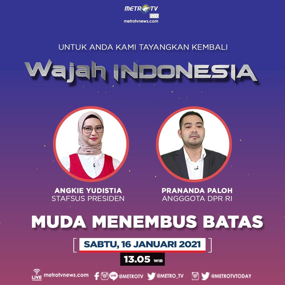 """Optimisme dari sosok muda Indonesia membawa perubahan dalam kehidupan berbangsa terutama dalam membangun Indonesia. Bagaimana anak muda memandang politik dan peluang anak muda di bidang politik? #WAJAHINDONESIAMETROTV """"Muda Menembus Batas"""" hari Sabtu (16/1) pukul 13.05 WIB."""