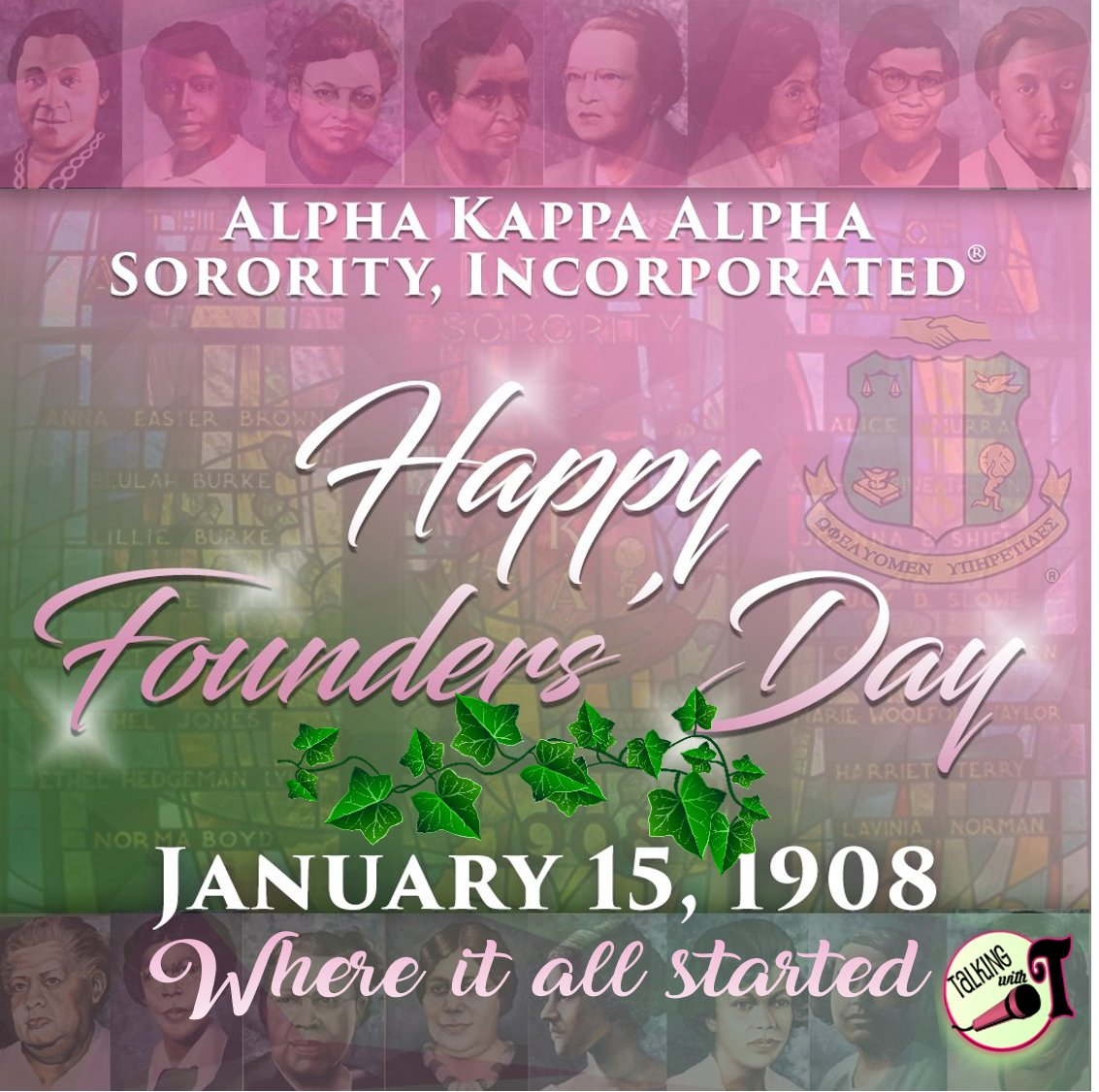 Happy Founders day to the lovely ladies of Alpha Kappa Alpha Sorority, Inc. #SkeeWeeSorors #J15 #FirstandFinest