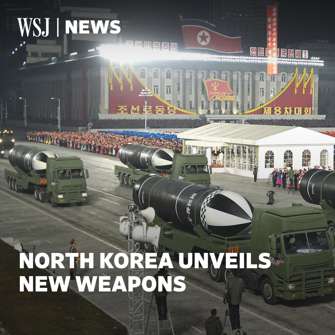 Days before Joe Biden's inauguration, North Korea unveiled new weapons and labeled the U.S. as its biggest enemy. But Pyongyang could be open to talks. #WSJWhatsNow