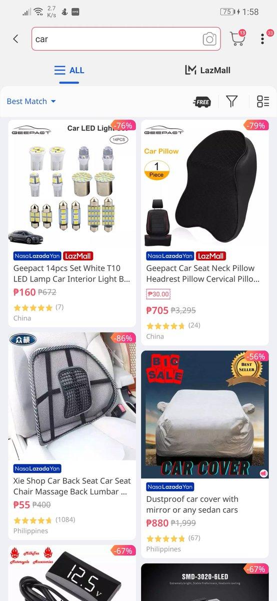 @mimiyuuuh ano na, baket wala sa @LazadaPH  ung Car? Sabi mo sa commercial #nasaLazadaYan 🤣 accessories lang to eh