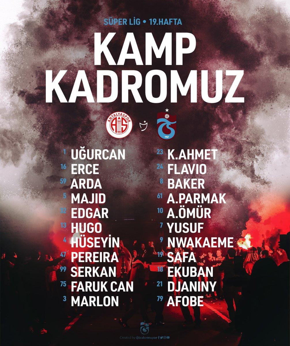 Antalyaspor maçı kamp kadromuz 👇