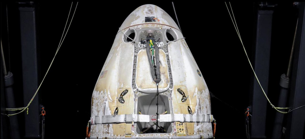 #ICYMI  UPGRADED DRAGON RETURNS TO EARTH SpaceX's upgraded Dragon spacecraft completed its first cargo resupply mission to and from the International Space Station. (Photo from the SpaceX website) #CargoDragon #SpaceX #SpaceGab