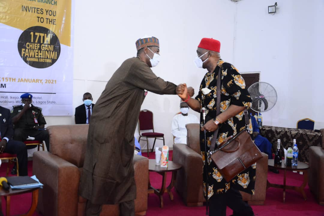 ".@ProfZulum, Nwodo discuss ""Nigeria's dysfunction"" at 17th Gani Fawehinmi's lecture in Lagos.."