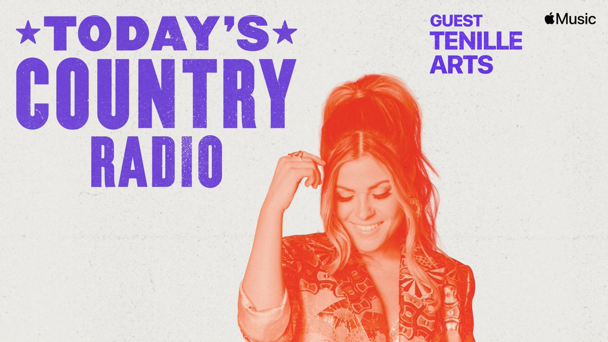 Replying to @kelleighbannen: Latest #TodaysCountry Radio is live at 8am CT: 💖 Cover Star @TenilleArts + new music from @blakeshelton and @haileywhitters.  @AppleMusic