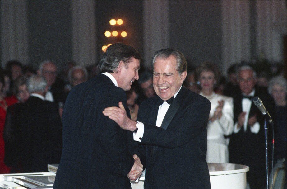 The world's most corrupt, conniving, stupidest President meeting with President Nixon #TwiceImpeached #TwiceImpeachedOneTermLoser #TwiceImpeachedTrump #TrumpIsACriminal #TrumpTreason