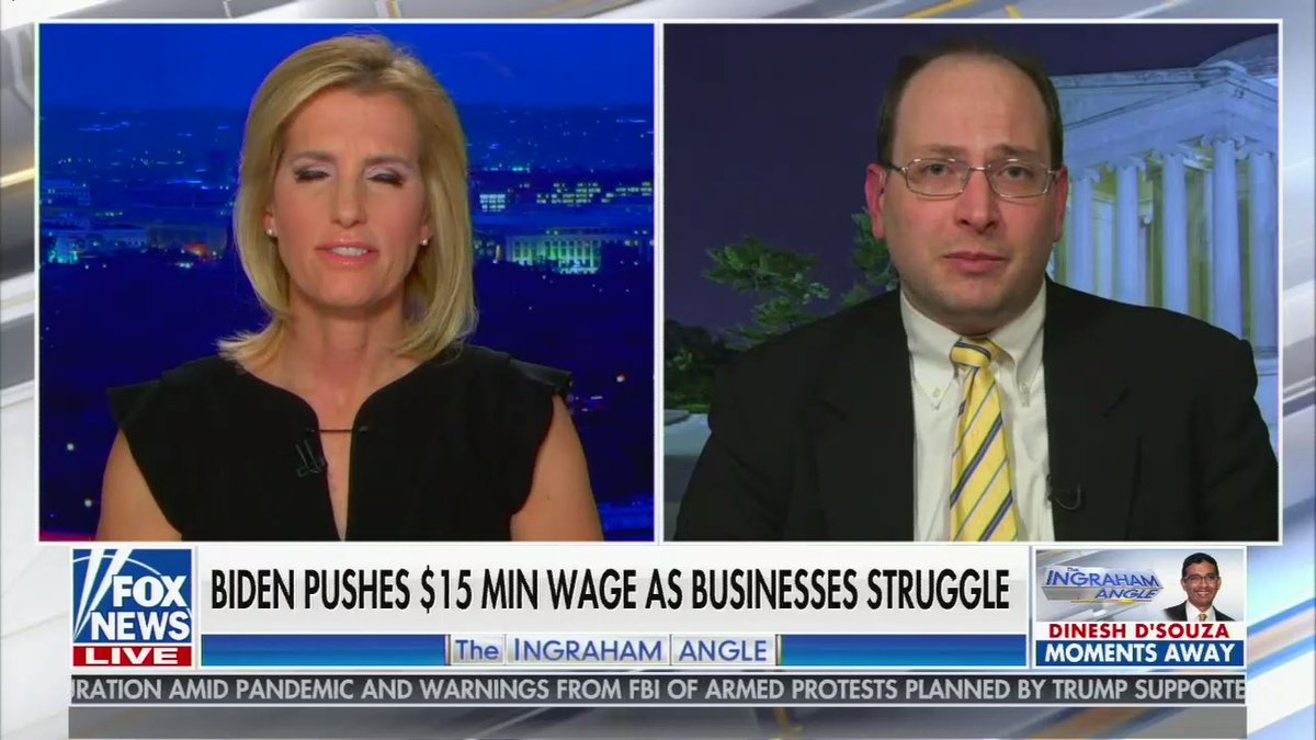 The closest they got to covering it is that Laura Ingraham really doesn't want to increase the minimum wage. https://t.co/VMmNZySQG9