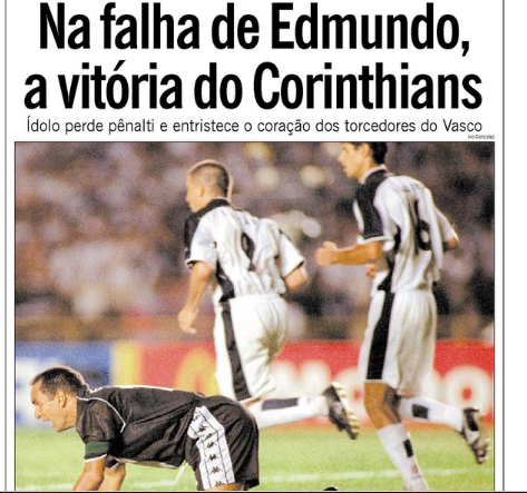 """15/1/2000's O Globo said that, after losing to @realmadrid in Tokyo, two years earlier, @VascodaGama was again """"downcast"""" when Edmundo missed his penalty kick and @Corinthians - whose supporters had """"changed the Rio de Janeiro landscape"""" - won the first #ClubWC organized by #fifa"""