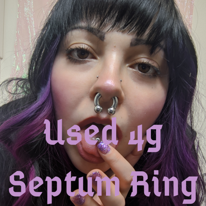 Used 4g Septum Ring by @GwennaPlum https://t.co/jz6efHZRbf Find it on #ManyVids! https://t.co/sUF7nv