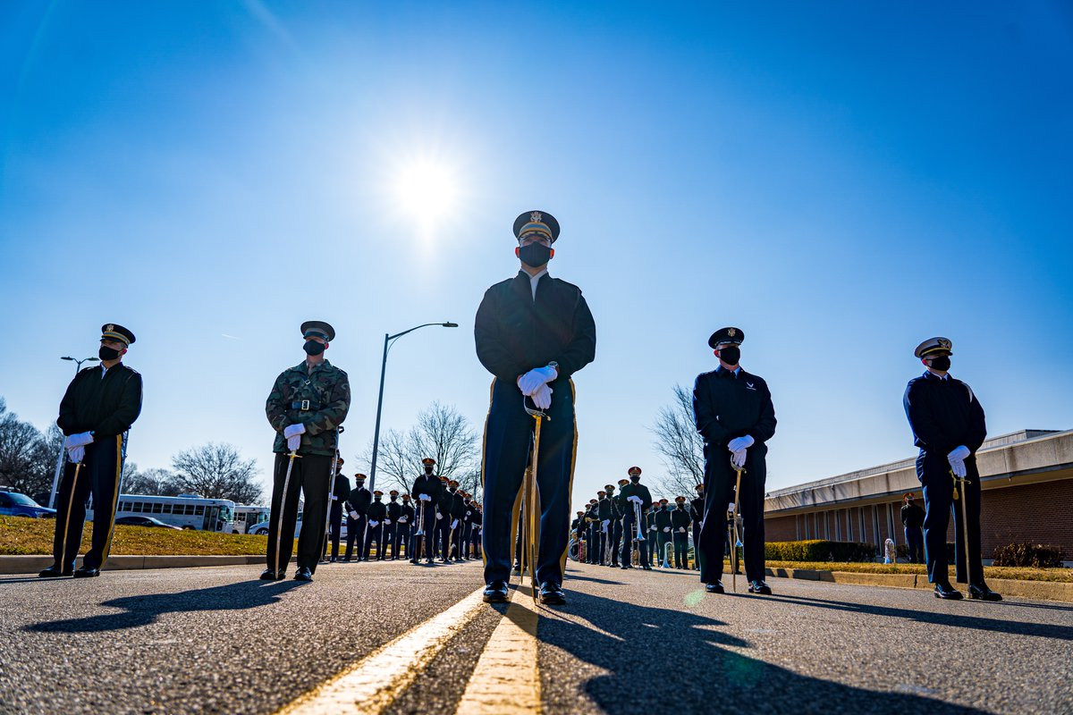The @USCG Ceremonial Honor Guard has participated in every inauguration since 1965. Members of the #USCG Ceremonial Honor Guard prepare for the Presidential Escort. The Presidential Escort will serve as the ceremonial marching component during the Inauguration.