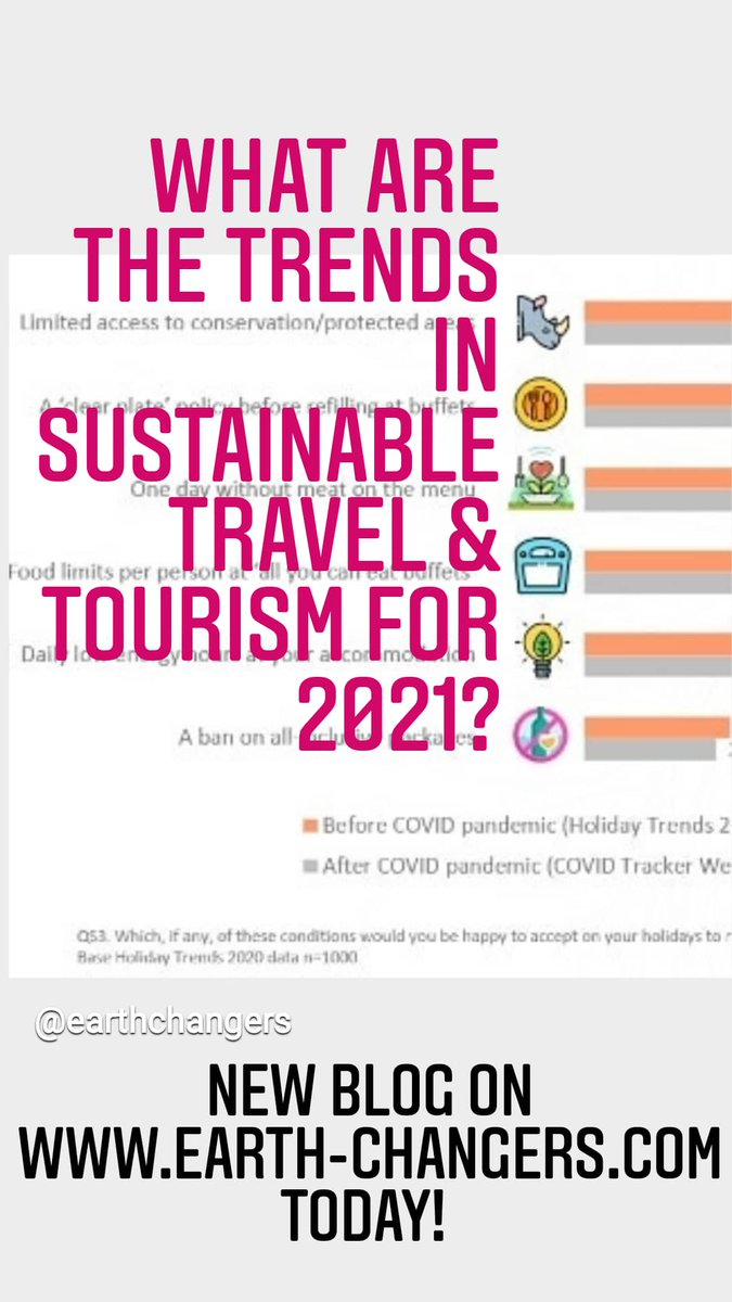 RT @ Earth_Changers_ Friday #Food for Thought: Q: What are the #sustainable #travel #trends for #2021? Here's our  answer: https://t.co/NzHnjSHx97 HT @Euromonitor @VisitBDRC @BVA_BDRC @EC_magazine @DefraGovUK @DefraNature @BBCNews #sustainabletravel #to… https://t.co/48qm3ZbRDj