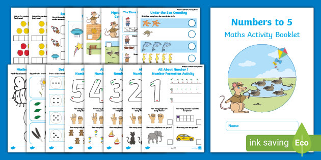 This activity booklet contains a range of activities to consolidate children's understanding of numbers to 5. Perfect for both remote and school based learning.