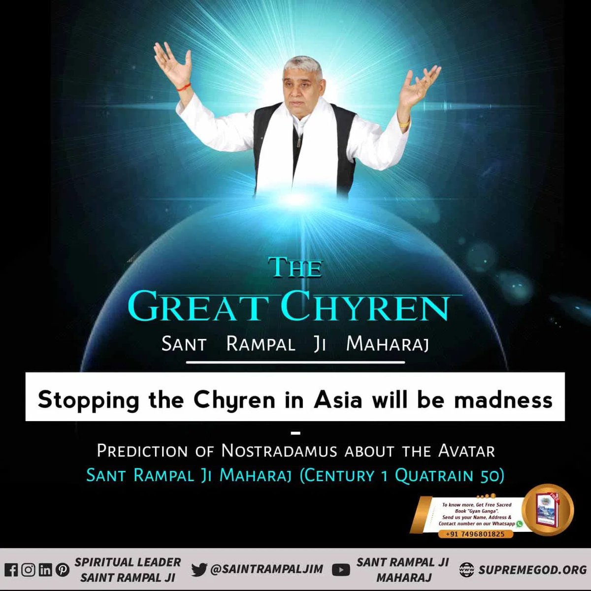 #GodMorningFriday   DIVINE GREATMAN OF INDIA  PROPHECY OF PROFESSOR HARARE OF ISRAEL ABOUT SAINT RAMPAL JI MAHARAJ  AFTER 1998, A POWERFUL RELIGIOUS ORGANISATION WOULD COME TO LIGHT IN INDIA. @SaintRampalJiM  Visit Satlok Ashram YouTube Channel #fridaymorning #FridayMotivation