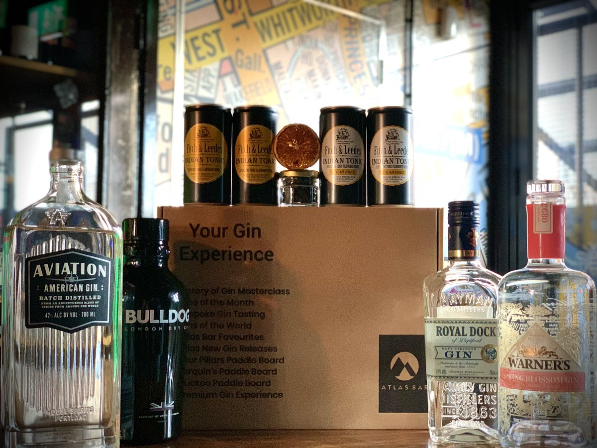 There's not long until our next Virtual #Gin tasting #Manchester!   Friday 22nd January 7pm @TheAtlasBar 🎉  We can't wait to talk all things @AviationGin @BULLDOGGIN @haymansgin @warnersgin ❤️  Order your Lockdown Survival Gin Kit now at  🍸