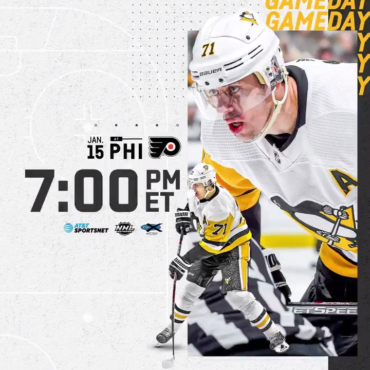 Gameday‼ Viajamos 🛫 a Filadelfia para visitar en el 🏟 Wells Fargo Center a @Flyers_VAVEL a las ⏰07:00PM-ET🇺🇸(01:00🇪🇸) en la batalla de Pensilvania #NHLesp #Pens #LetsGoPens #Flyers #AnytimeAnywhere #PITvsPHI #NHL