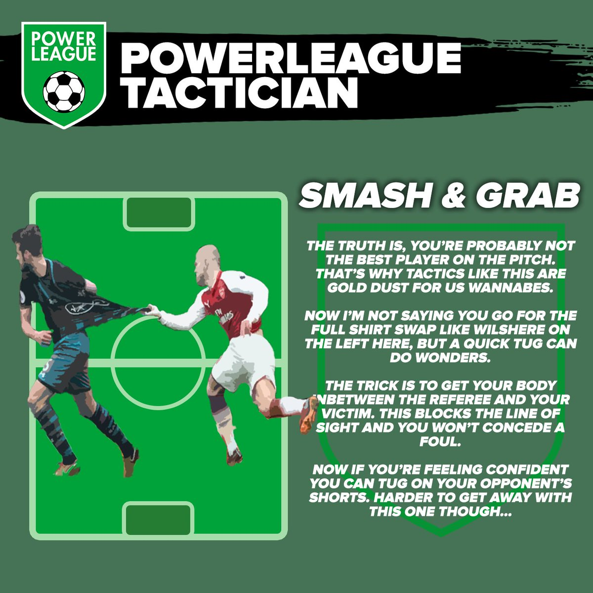 Bored at home? Don't worry! This tactic you can practice around the house, and by the time we're back open, you'll be an expert! #PowerleagueTactician #PLAYON