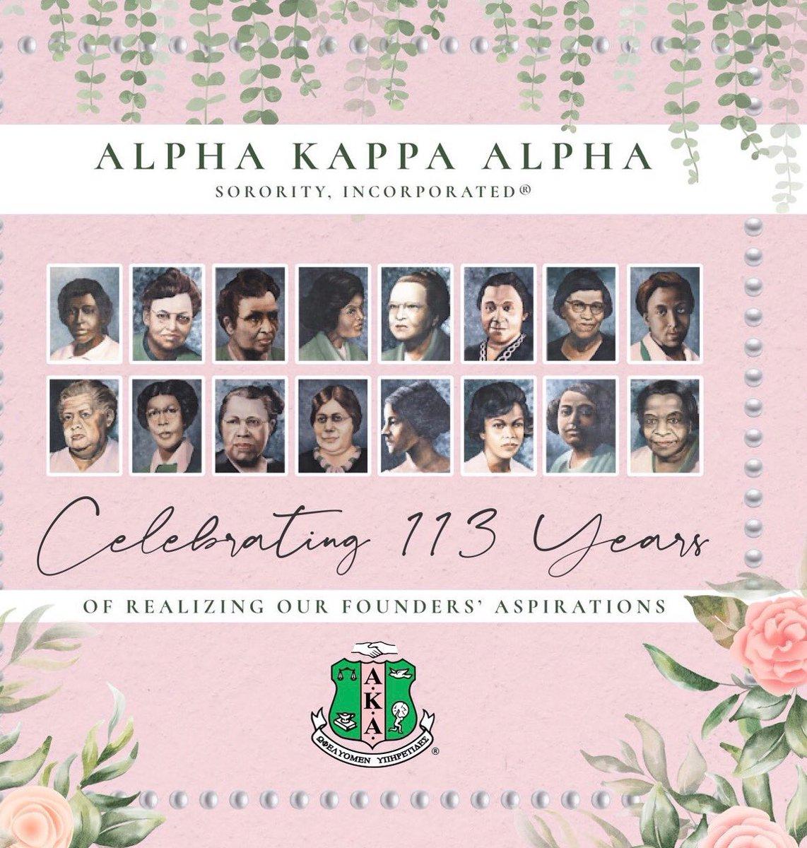HAPPY FOUNDERS' DAY to the women of Alpha Kappa Alpha Sorority, Inc. #AKA1908 #SkeeWee