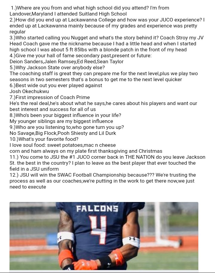 """Recap Friday! 📬 """"No Huddle"""" Interview with the top JUCO corner back 🏈 in THE NATION De'Jahn """"Nugget"""" Warren! You'll see him in action this spring at Jackson State,welcome to the sip! Let's Go! @Ayoooo_daeee @SocialSportsMs"""