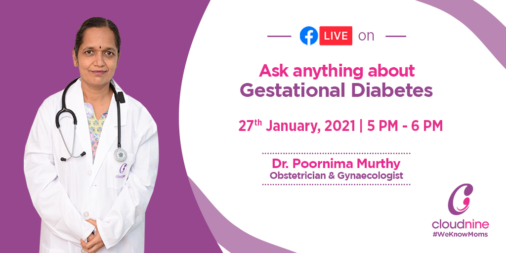 test Twitter Media - Tune in to this webinar session with the renowned Obstetrician and Gynaecologist Dr. Poornima Murthy on 27th January from 5-6 PM will clear any questions regarding Gestational Diabetes and how it can be controlled.   #WeKnowMoms #Pregnancy #GestationalDiabetes https://t.co/yDCUc0vYT8