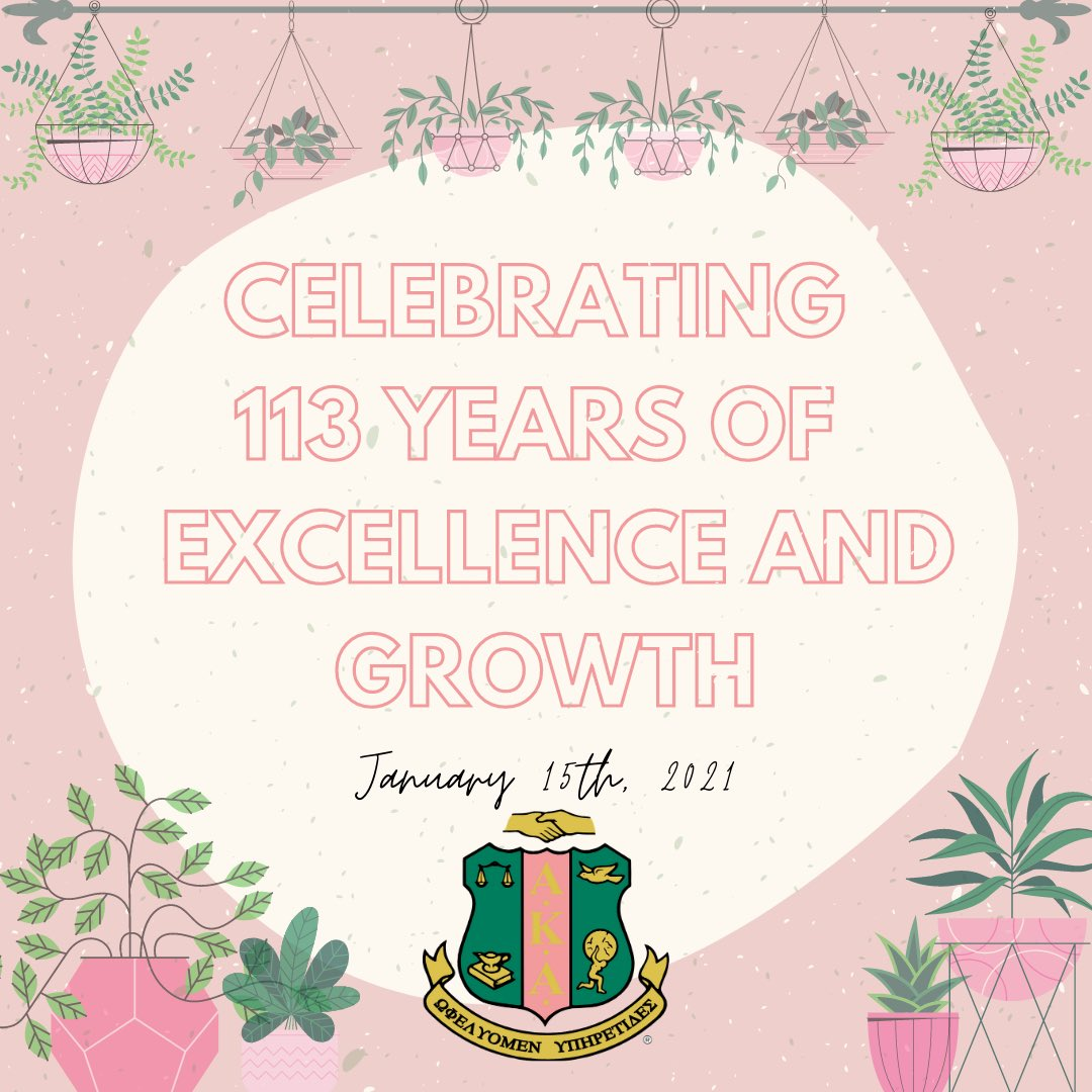 It has been 113 years of sisterhood and service for our lovely Alpha Kappa Alpha Sorority Incorporated, and we can't wait to grow even more! #aka1908💗💚#akafoundersday