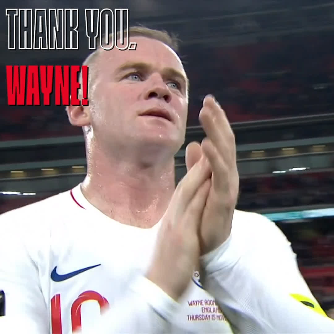 A #ThreeLions legend. Congratulations on a fantastic playing career, @WayneRooney!  Wishing you all the best in management 👊