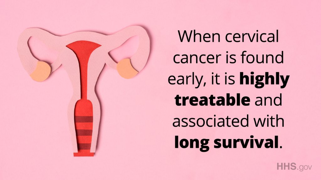 #CervicalCancer affects nearly 13,000 people each year. But screenings like an annual Pap test or the HPV test, make the disease highly treatable. Find out what your risk is and learn more about prevention from @CDCgov: .  #CervicalHealthMonth