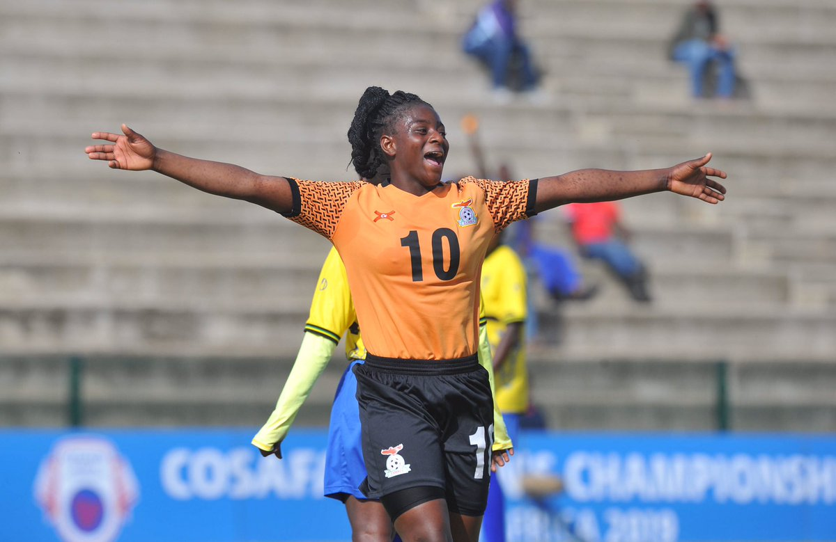 Nothing is more joyful than scoring for your country 🇿🇲🤩  @Copper_Queens   #FridayFeeling   #ItsTimeItsNow