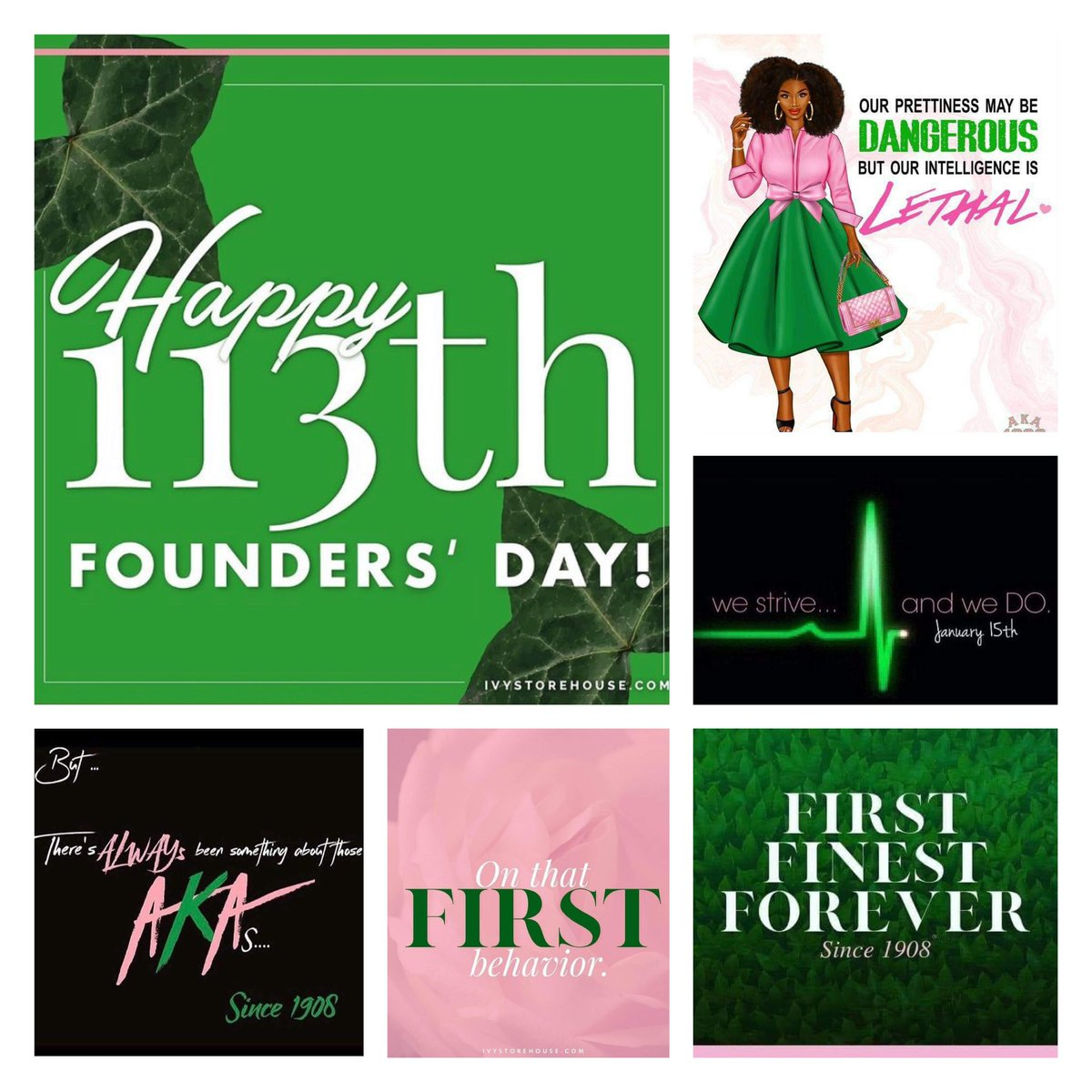 Happy Founders' Day Sorors! #AKA1908 #akaj15