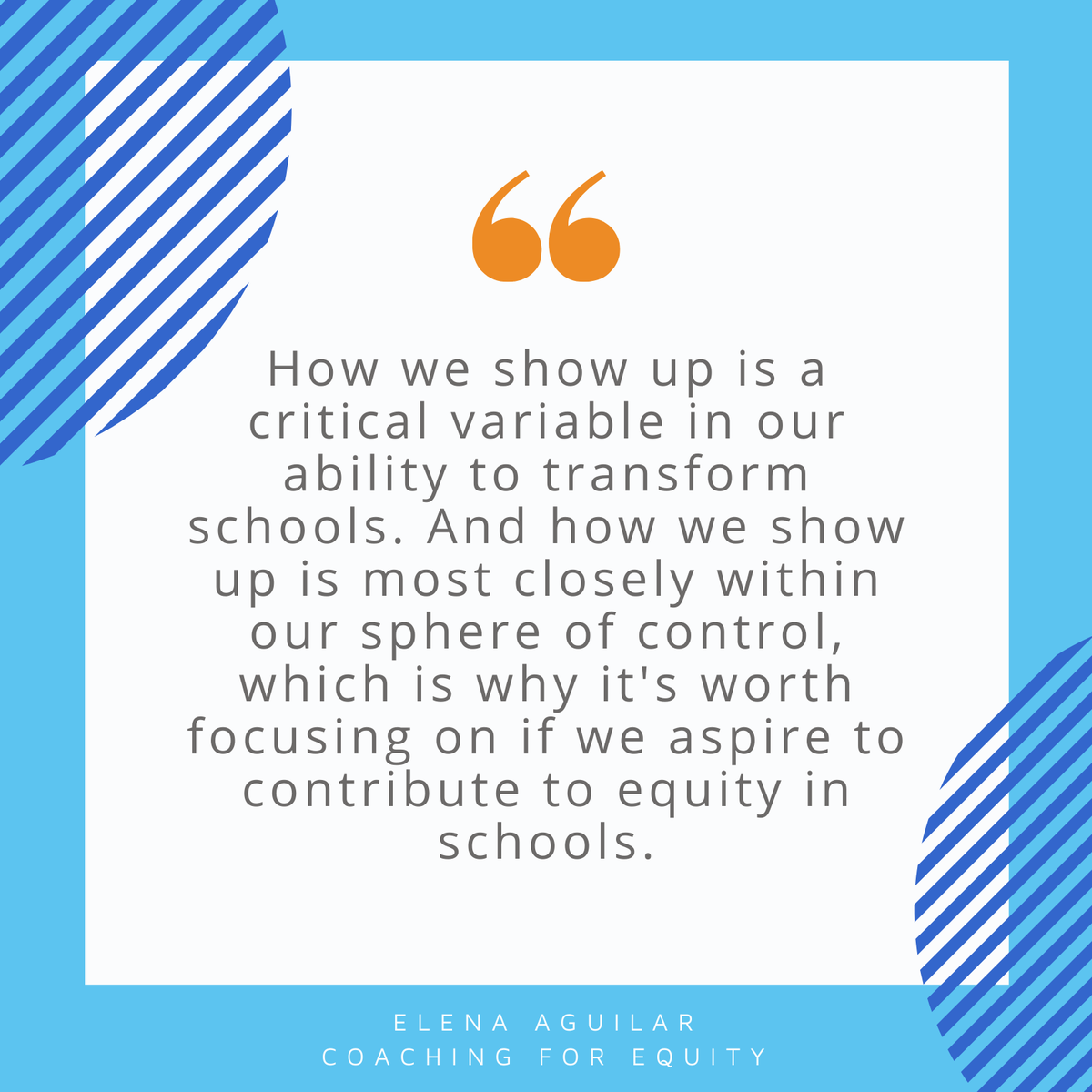 What do you do to ensure you're showing up the way you want to for your students and teachers?