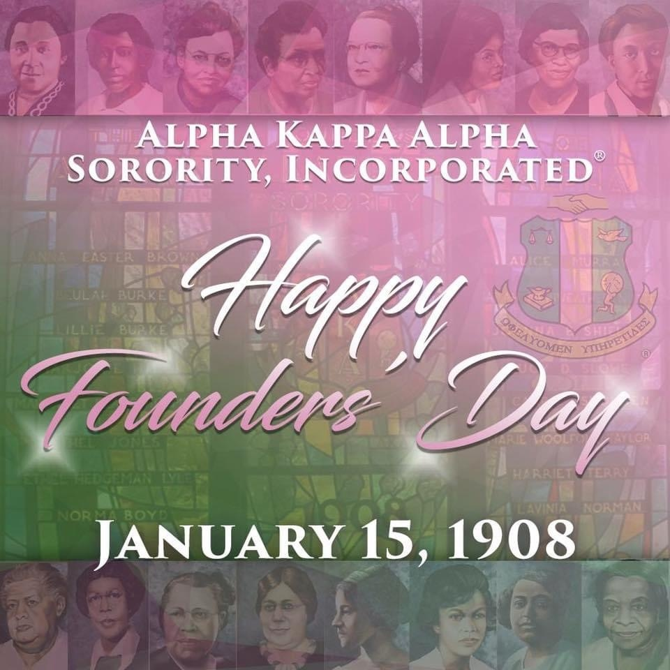 In 1908 the Founders' of Alpha Kappa Alpha Sorority, Inc. captured a vision fair, 113 years later, we are still providing Service to All Mankind.   In honor of our Founders', we celebrate the Excellence of Alpha Kappa Alpha Sorority, Inc.  Happy 113th Founders' Day!  #AKA1908  ⁠