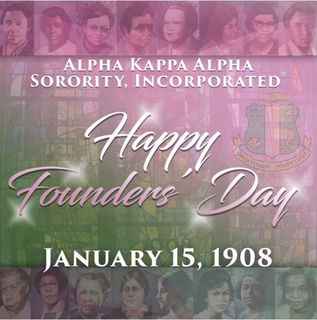 HAPPY FOUNDERS' DAY TO MY SORORS OF ALPHA KAPPA ALPHA SORORITY, INC. 💕💚 #AKA1908 #FirstandFinest #SkeeWee #ServiceToAllMankind