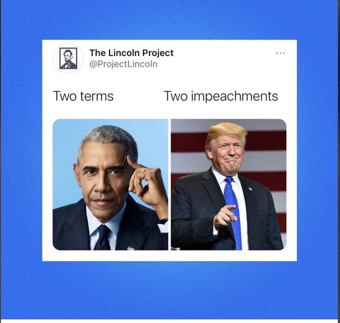 I like presidents that have not been impeached twice. #ImpeachmentDay