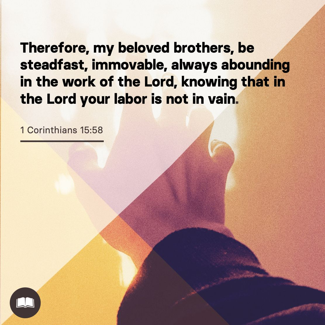 As this week comes to an end, here is some encouragement from 1 Corinthians 15. Have a great Friday and finish the week strong. #FinishStrong
