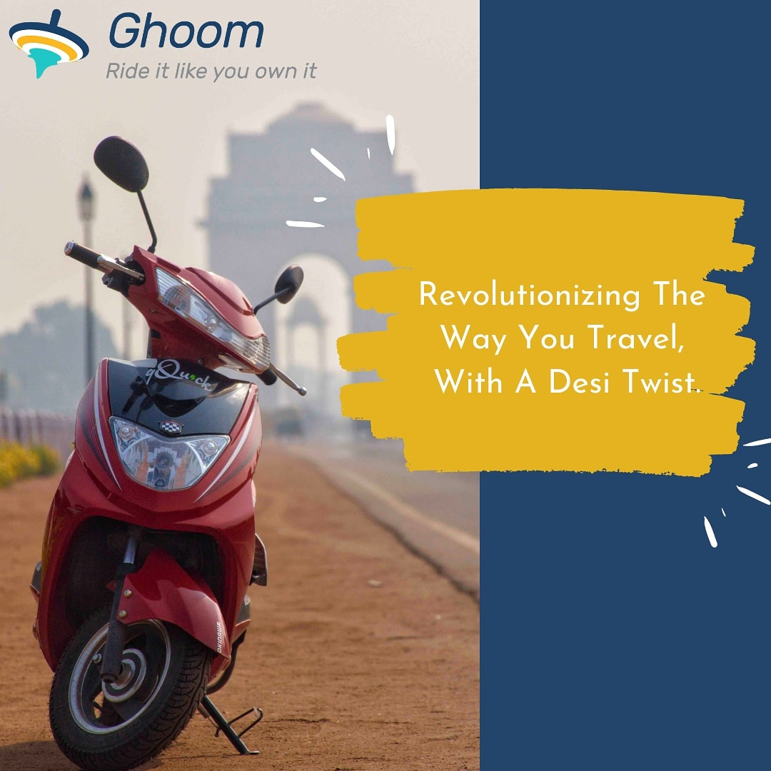 While the world is slowly shifting back to a 9 to 5 work day routine from a WFH lifestyle. We, at Ghoom, are working towards making that transition as stress-free as we can for you.   Get on with your day with Ghoom & say no to tension. 🛵  #WFH #travel #scooter #ElectricVehicles