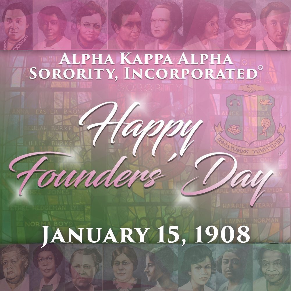 I'm a Proud HBCU alumni so I want to wish a Happy Founders' Day to the Ladies of Alpha Kappa Alpha Sorority, Incorporated! Celebrating 🥳 113 years of sisterhood & service. Also want to show love 💕 to the 16 Founders' of the #AKA organization. #AKA1908 #AKA113 #AKAFoundersDay