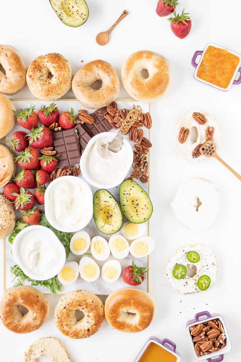 It's #NationalBagelDay and you can find us drooling over this Sweet & Savory Bagel Board from @cutefetti - starring @LoveMyPhilly.  🥯🥯  #bagels #BagelDay #blog #blogpost #breakfast #brunch