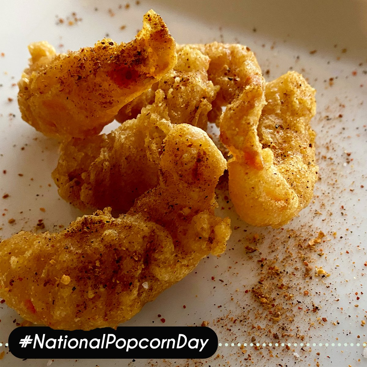 Happy National Popcorn Day!  We're taking a non-traditional approach to the holiday and celebrating with our Vegan Popcorn Shrimp 🍤 Celebrate with us today!    #nationalpopcornday #popcornshrimp #stlfood #popcorn