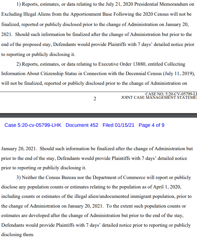 BREAKING: Trump administration attorneys confirm to a federal judge that Census Bureau and the Commerce Department will not release the data needed for Trump to try to alter census apportionment counts before the end of his term, as first reported by @NPR