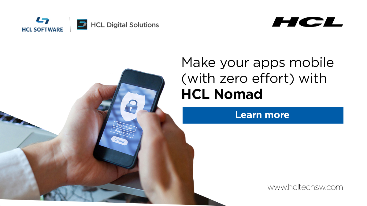 Use your #HCLDomino apps on your mobile device - offline, same security! #HCLNomad #Dominoforever #coding #cybersecurity #100DaysOfCode #datascience #ai #bot #iot #flutter #DevCommunity #serverless #womenintech #30DaysOfCode #github https://t.co/F1CwLi6zbr