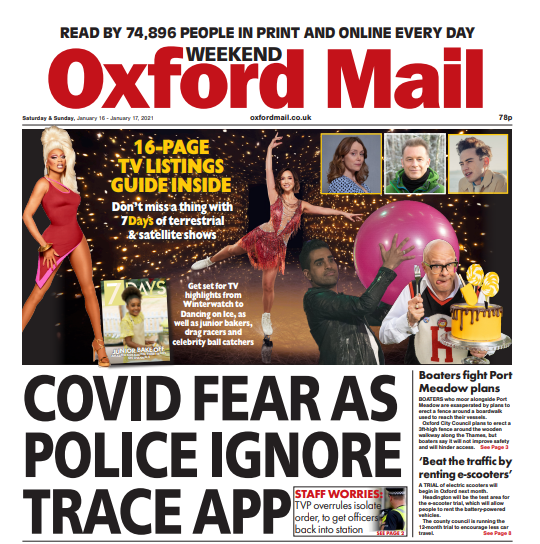 Here it is, your weekend Oxford Mail! Thames Valley Police tell staff to IGNORE Covid exposure alerts, bitter row over plans to build Port Meadow fence, plus e-scooters are coming to Oxfordshire #TomorrowsPapersToday