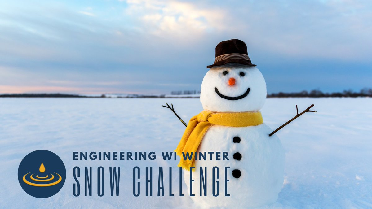 Get out and enjoy this Wisconsin winter! Engineering is all around us – even in our winter activities. Join this #STEM challenge to explore engineering, get outside and have fun! This week's challenge: build a snowman.  Share your snow creations with #EngineeringWIWinter!