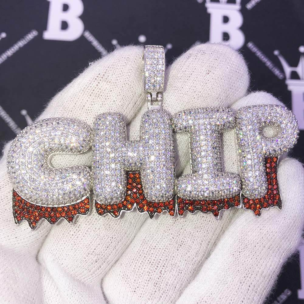 Custom Fire Bubble Letter Name Pendant | Personalized Iced Out Initials!Shine With  #hiphop #hiphopbling #bling #model #photooftheday #instagood #nofilter #tbt #igers #picoftheday #love #nature #swag #lifeisgood #caseofthemondays
