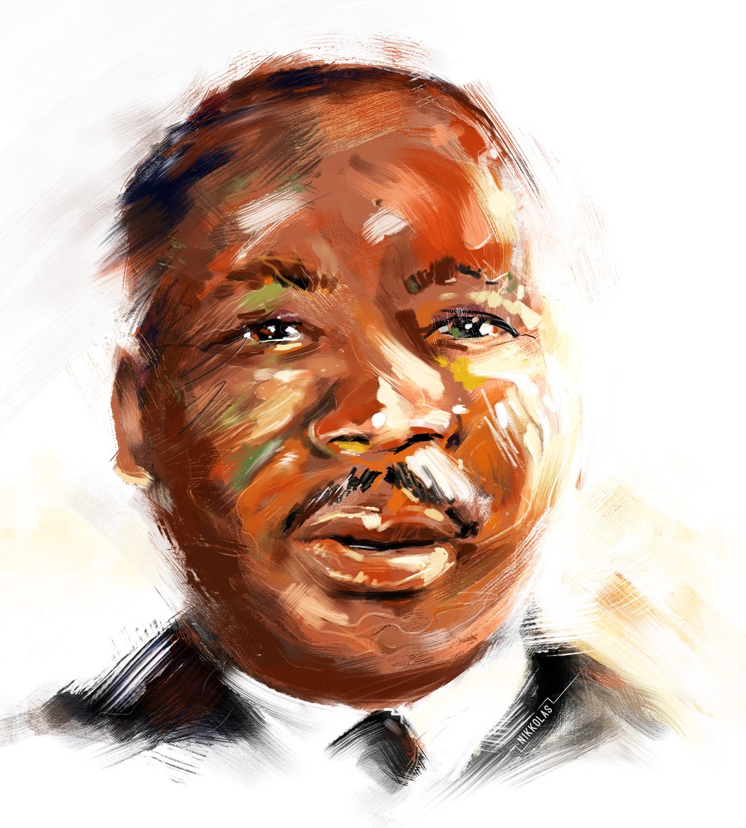 """""""Whatever affects one directly, affects all indirectly. I can never be what I ought to be until you are what you ought to be. This is the interrelated structure of reality."""" — Martin Luther King, Jr.  Art by Entrepreneur and HBCU alum Nikkolas Smith"""