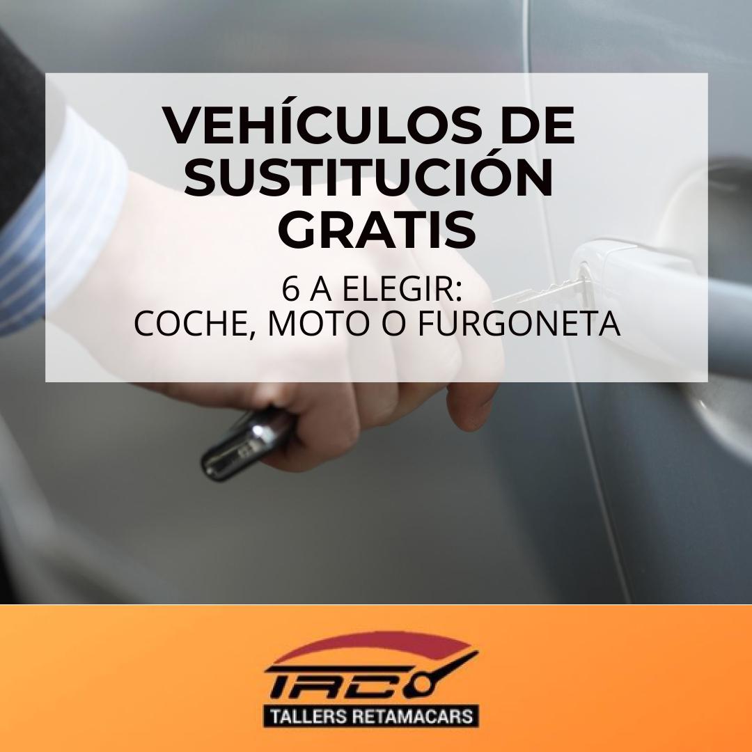 6 Vehículos de Sustitución a elegir: Coche, Moto o Furgoneta. Consulta disponibilidad enviándonos un mail, por whatsapp o llamándonos directamente.  👇 CONTACTA AHORA 👇  #taller #coche #sustitucion #gratuito #gratis #free #car #moto #furgoneta #retamacars