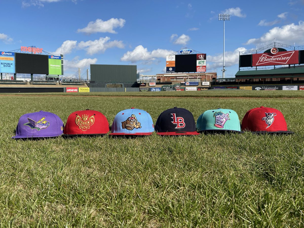 It's our #NationalHatDay giveaway!  ➡️ LIKE & RETWEET for a chance to win one of the hats pictured.  ➡️ REPLY which hat is your favorite!  (L to R) RiverBats, Murcielagos, Mashers, LB Bats, Mint Juleps, BP Bats  Winner announced Sun (1/17) @ 8 PM.