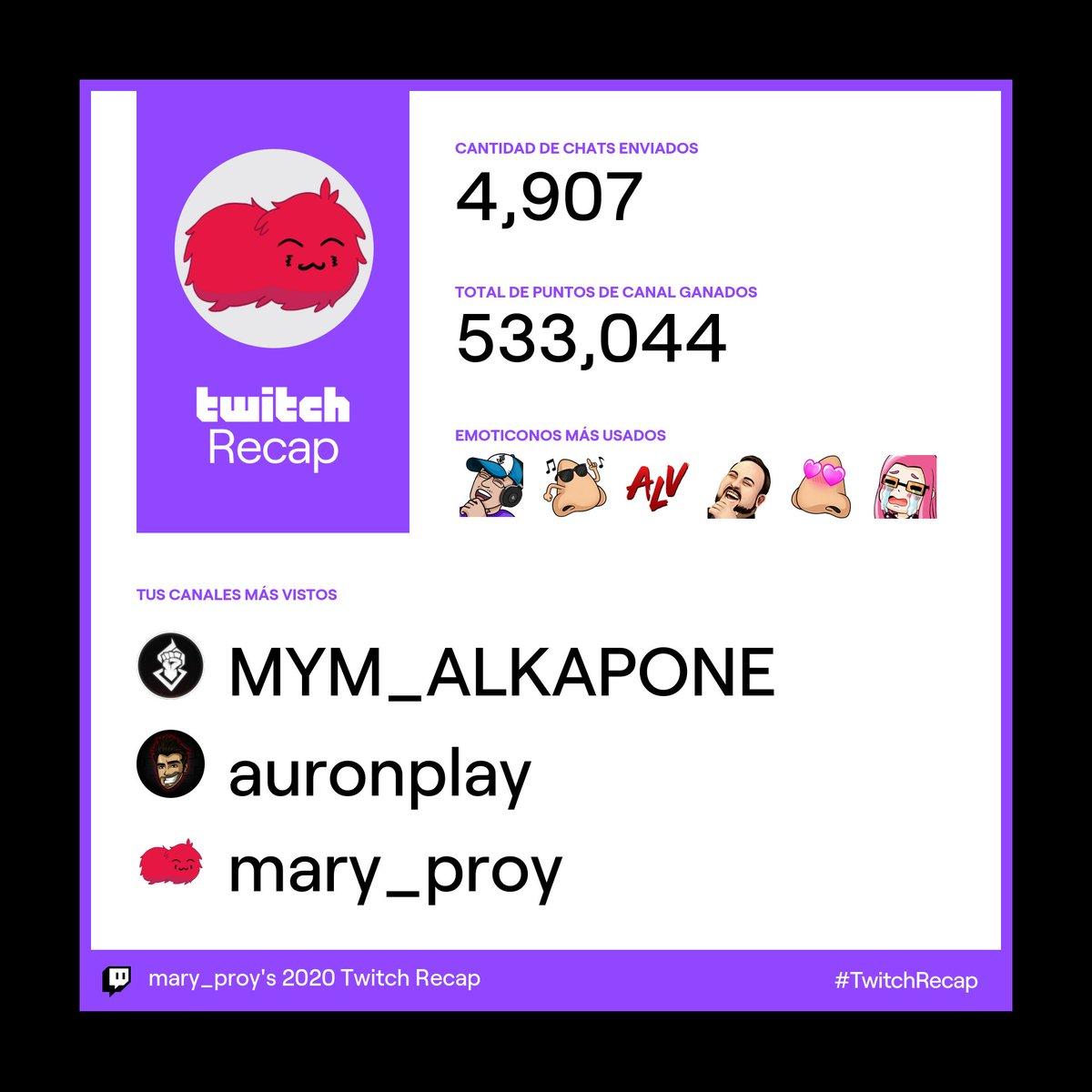 No es la gran cosa pero igual quería compartirlo jaja 😌 Ante todo el patrón 💪🏻 @MYMALK4PON3 #TwitchRecap