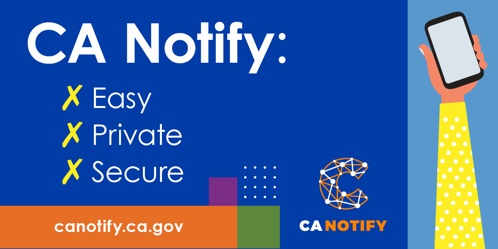 You can help your community while maintaining your privacy by using #CANotify. CA Notify is as serious about protecting your privacy as it is about protecting #California from #COVID19.   Visit: