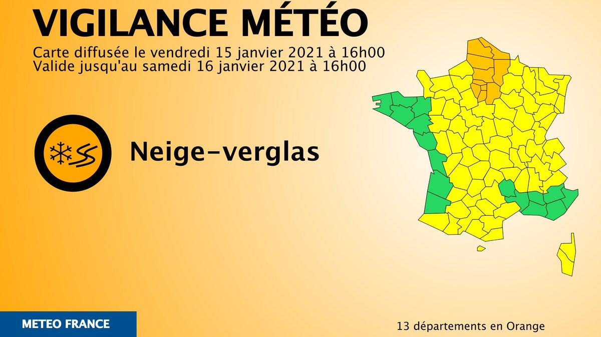 #VigilanceOrange en alerte orange espérons qu'on ai enfin de la neige 😂😂😂
